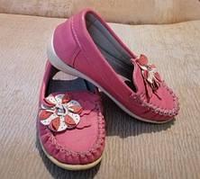 Детские кожаные туфли/ мокасины для девочки