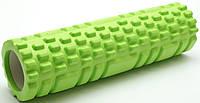 Массажный валик (ролик) для йоги / Салатовый / 29х8 см. - MS 1836