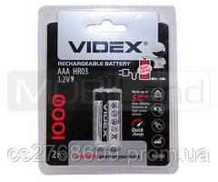 """Батарея / Акумулятор """"Videx"""" AAA/HR3 1000 mAh (2шт)"""