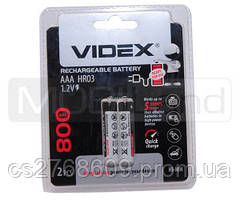 """Батарея / Акумулятор """"Videx"""" AAA/HR3 800 mAh (2шт)"""