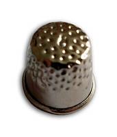 Наперсток для шитья металллический, серебристый