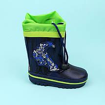 Гумові дитячі чоботи для хлопчика Трансформери тм Bi&Ki розмір 24, фото 3