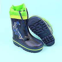 Гумові дитячі чоботи для хлопчика Трансформери тм Bi&Ki розмір 24, фото 2