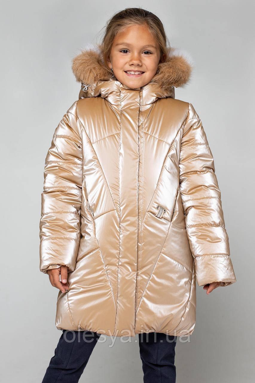 Пальто детское зимнее на девочку Линда Размеры 122- 164