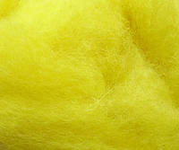 Новозеландский кардочёс для валяния, 20 гр (2003) лимонная
