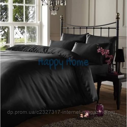 Комплект элитного постельного белья Nova Postil Black сатин