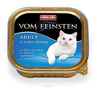 Паштет Animonda vom Feinsten Adult, для взрослых кошек, лосось, креветки, 100 грамм