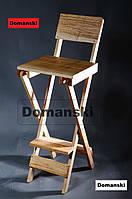 Стул для визажиста складной, переносной. Барный складной высокий стул.