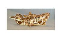 Декорация для аквариума керамическая Корабль длинный 27х7х9 см
