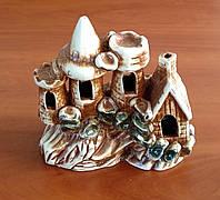 Декорация для аквариума керамическая Замок на скале 20х20 см