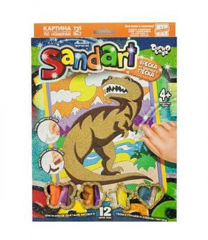 """Фреска из песка """"Тираннозавр"""""""
