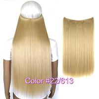 Трессы длинные волосы накладные темный блондин