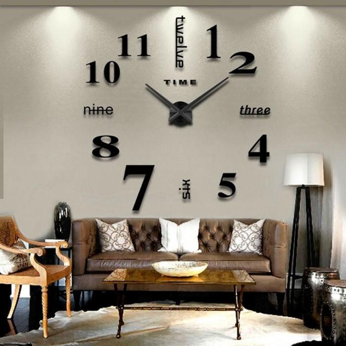"""Часы большие настенные 3D  наклейки """"DIY"""" от 80 до 150 см (ZH015-1B )"""
