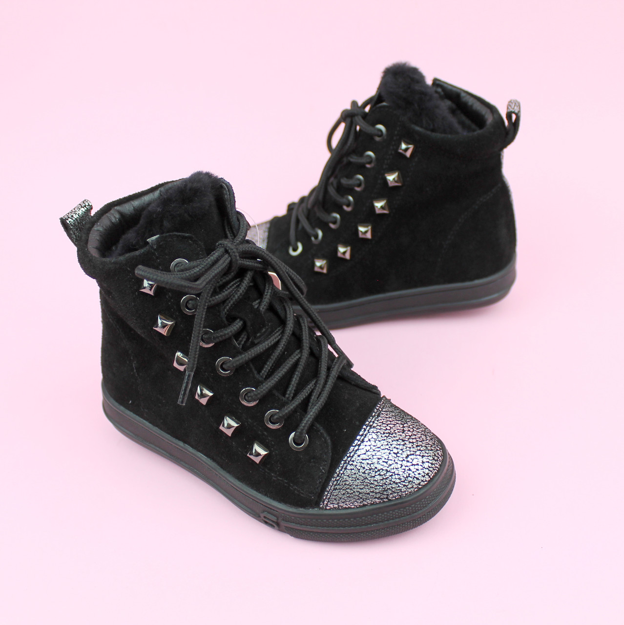 Зимние кожаные ботинки девочке тм Bi&Ki размер 28,29