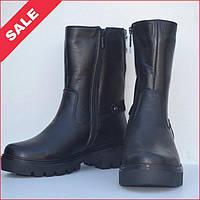 Удобные зимние женские ботинки из натуральной кожи