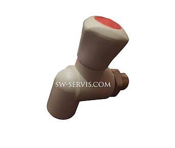 Кран радиаторный угловой pp-r 20*1/2 wavin ekoplastik