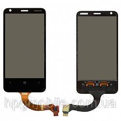 Сенсорный экран для Nokia Lumia 620, rev.3, черный, оригинал
