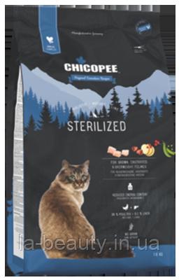Корм для кошек беззерновой Holistic Nature Line (HNL) Chicopee Sterilized (c птицей и печенью), 1.5 кг