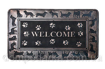 Коврик для прихожей Рамка (Welcome) резина 45х75 см