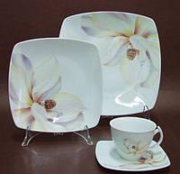 Сервиз столовый фарфоровый 6/26 Akcent 604, сервиз чайный фарфоровый 6/15 Akcent 604