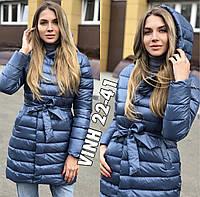 Куртка женская на синтепоне с капюшоном 42-46 рр.