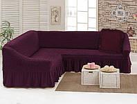 Чехол для мебели love You диван угловой +подушка Вишня