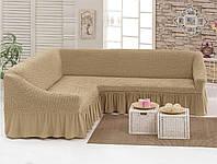 Чехол для мебели love You диван угловой Бежевый