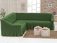 Чехол для мебели love You диван угловой Олива