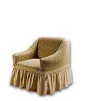 Чехол для мебели love You кресло Бежевый