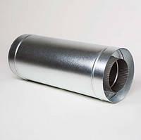 Труба димохідна з нерж. сталі 0,6мм з теплоізоляцією в цинковому кожуху ф125/180  0,5м.