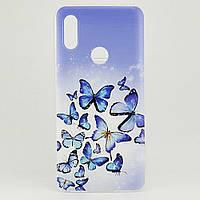 Чехол Print для Xiaomi Redmi 7 силиконовый бампер Butterflies Blue
