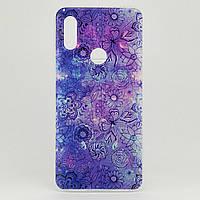 Чехол Print для Xiaomi Redmi 7 силиконовый бампер Purple