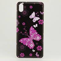 Чехол Print для Xiaomi Redmi 7A силиконовый бампер Butterflies Pink