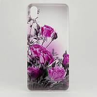 Чехол Print для Xiaomi Redmi 7A силиконовый бампер Small Roses