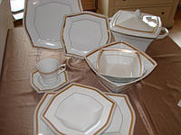 Сервиз столовый фарфоровый 6/26 LWOW 400, сервиз чайный фарфоровый 6/15  LWUWE 400
