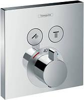 Термостат прихованого монтажу Hansgrohe ShowerSelect 15763000, на 2 користувачі