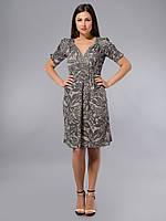 Платье серое, хлопок, Индия, 44-46 р-ры, фото 1