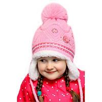 """Детская зимняя меховая шапка-ушанка для девочки """"Метелица"""""""