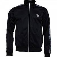 Спортивна кофта Umbro Active Style Taped Tricot Black/White Black Оригінал