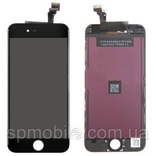 Дисплей iPhone 6, чорний, з рамкою, з сенсорним екраном, Original