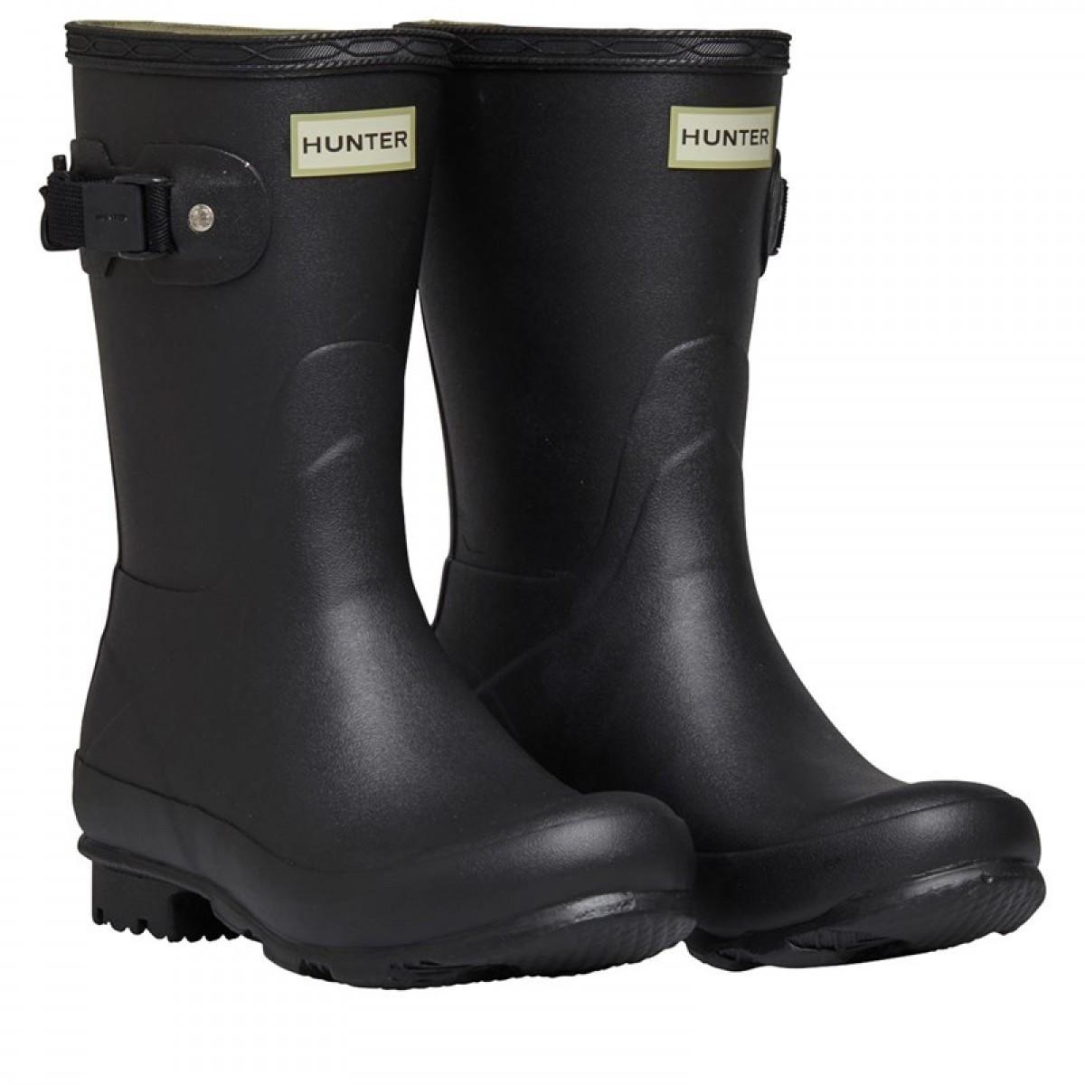 Ботинки Hunter Norris Field Short Wellington Black Black - Оригинал, фото 1