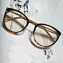 Имиджевые очки в золотой оправе Чёрный, фото 4