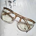 Имиджевые очки в золотой оправе Леопард, фото 3