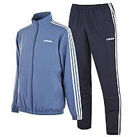 Спортивный костюм adidas 3 Stripe Woven Tarcksuit Blue/Navy/Wht - Оригинал