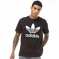 Футболка adidas Originals Trefoil Black Black - Оригинал