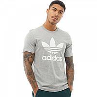 Футболка adidas Originals Trefoil Medium Grey Heather Grey Marl - Оригинал