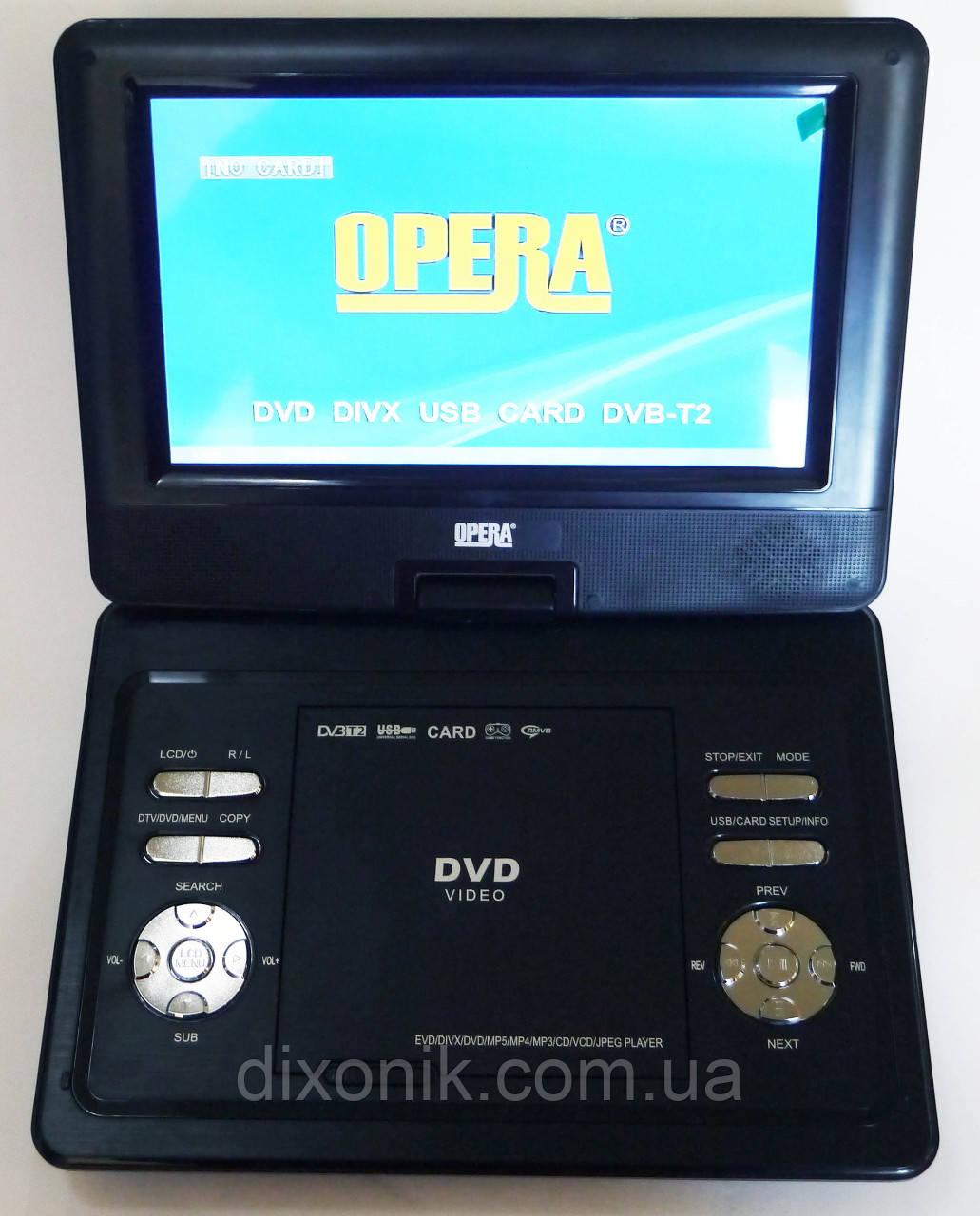 """Портативный переносной ДВД DVD плеер Opera NS-1180 11"""" Т2 USB игры"""
