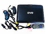 """Портативный переносной ДВД DVD плеер Opera NS-1180 11"""" Т2 USB игры, фото 8"""