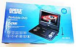 """Портативный переносной ДВД DVD плеер Opera NS-1180 11"""" Т2 USB игры, фото 9"""