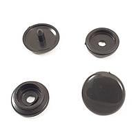 Кнопка пластиковая 15 мм Черная 50шт.